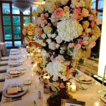 Featured - Hyatt Grand Cypress, Vangie's Events of Distinction, Blossoms Arrangements of Distinction, Orlando wedding, blush pink wedding ideas, rose reception centerpieces