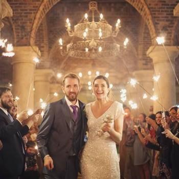 Bella Collina, Vangie's Events of Distinction, Blossoms Arrangements of Distinction, Orlando wedding, sparkler exit
