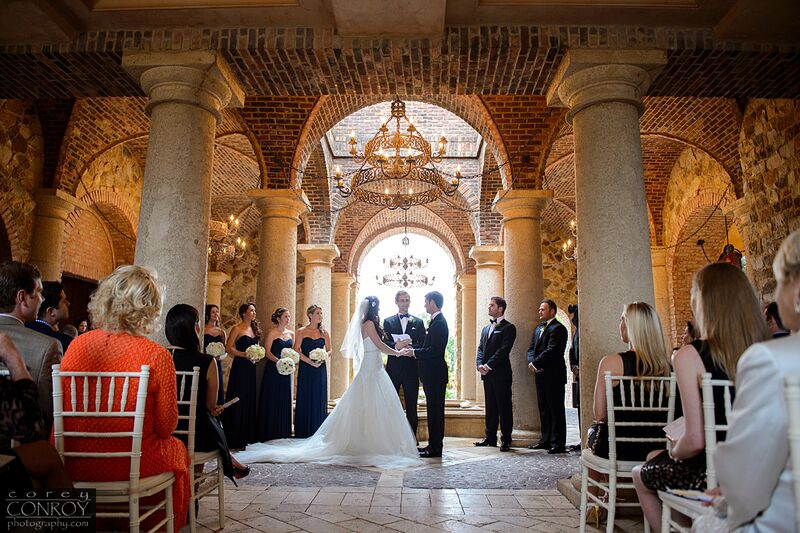 Corey Conroy Photography, Bella Collina, Vangie's Events of Distinction, Vangie Events, Blossoms, wedding ceremony ideas