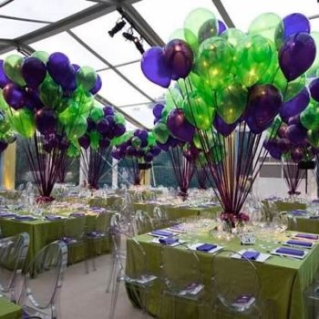 Lime Green and Purple Social Events