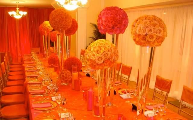 Orange and Pink Event Decor - Social Events
