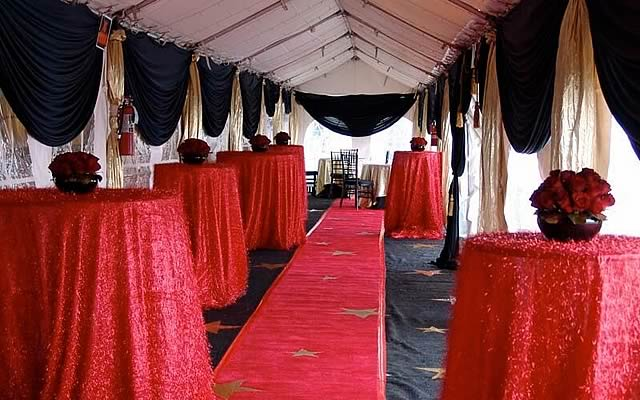 Red Carpet Style Social Events