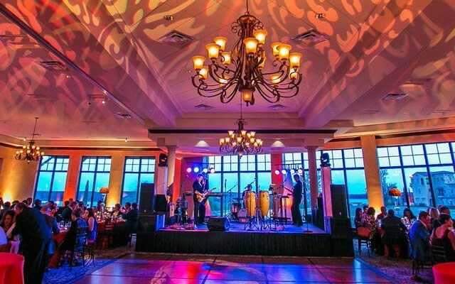 vibrant entertainment and lighting fundraiser events wedding