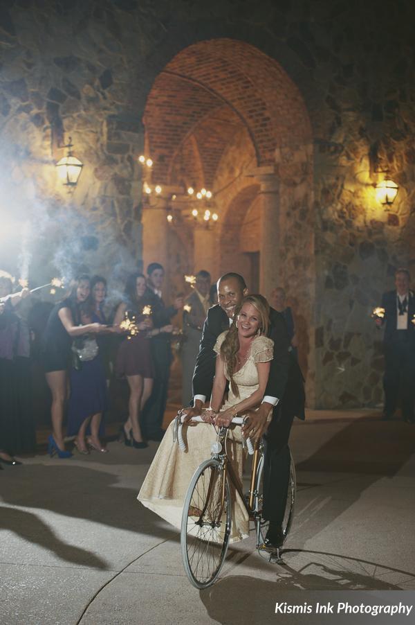 Bicycle wedding exit