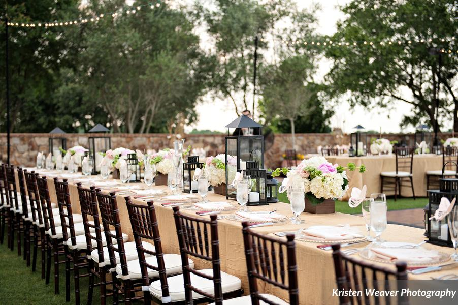 Blush and gold wedding reception