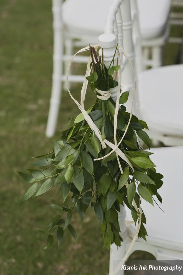 unique orlando wedding Foliage aisle ceremony decor