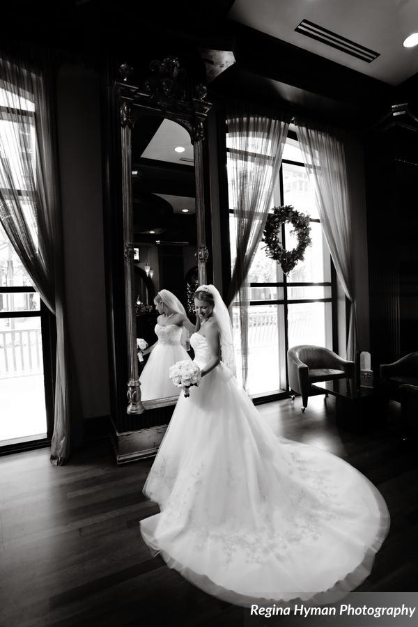Bridal gown train