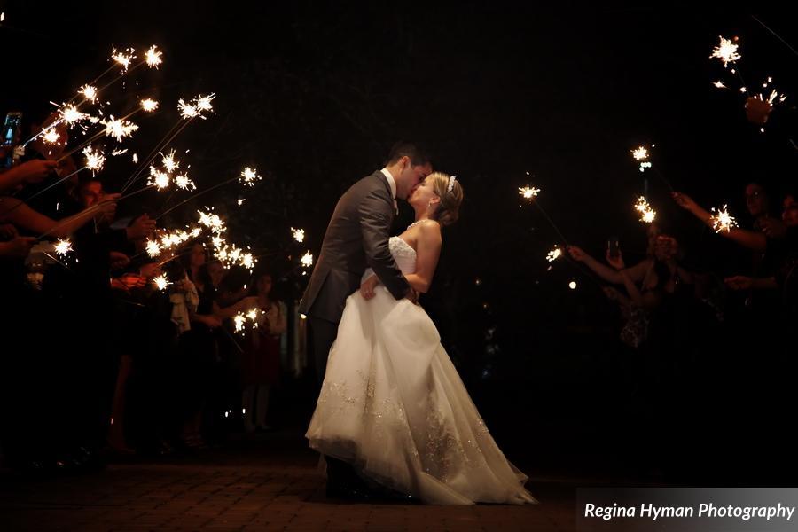 Bride and groom - sparkler exit