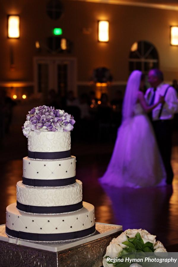 Purple And White Wedding Cake Wedding Planners Vangie S Events
