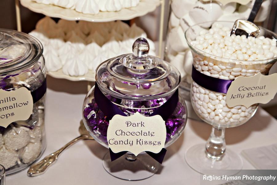 Purple dessert buffet