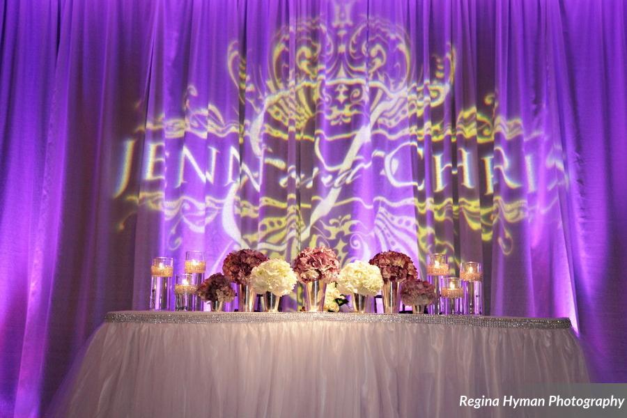 Purple wedding - GOBO monogram