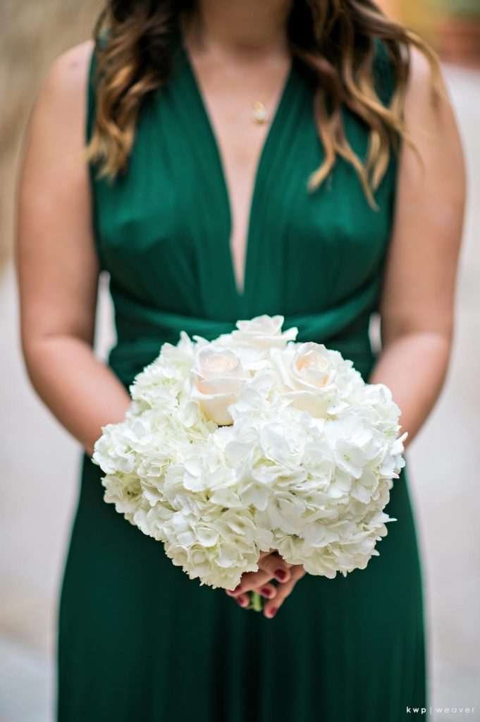 Green and White Wedding, Bridesmaid Bouquet-min