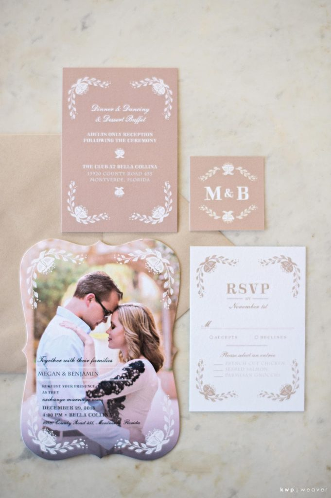 Green and White Wedding, Invitation Suite-min