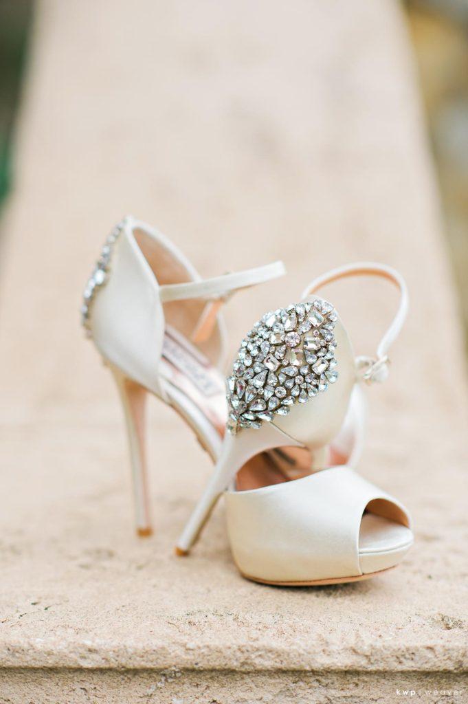 White Wedding, Bling Bridal Shoes