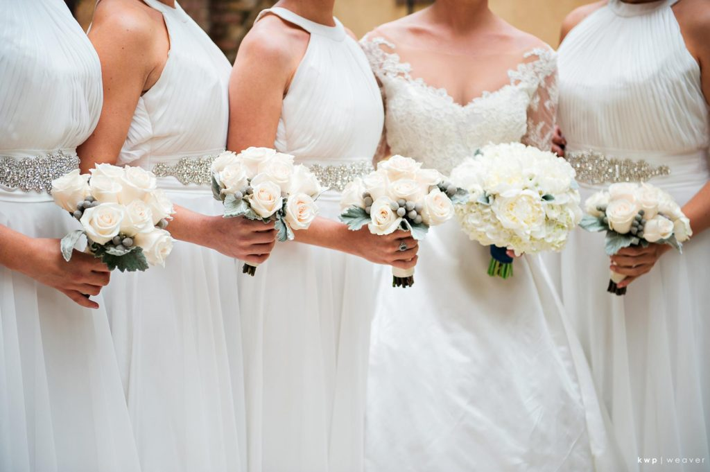White Wedding, Bridesmaid Bouquets