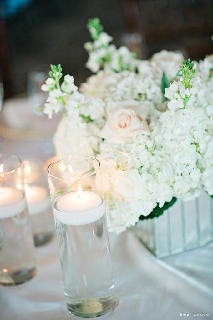 White Wedding, Floral Centerpiece