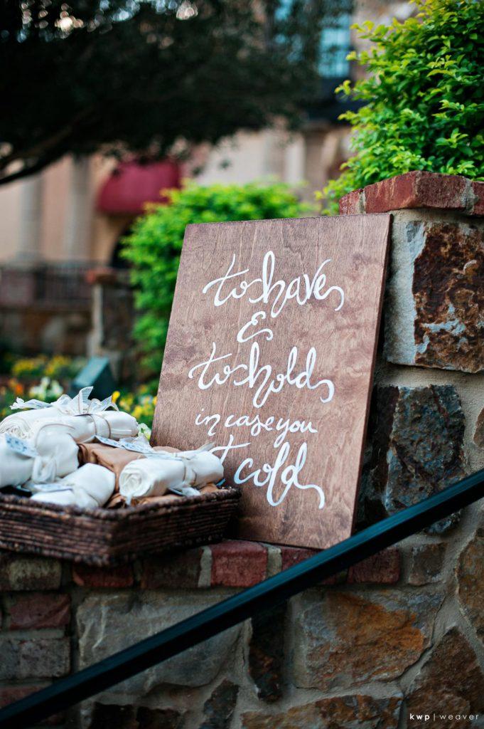 White Wedding, Rustic Signage
