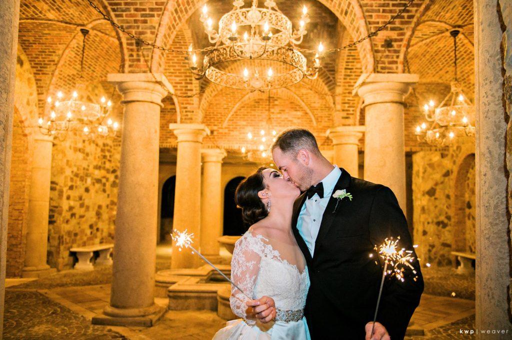 White Wedding Sparkler Sendoff