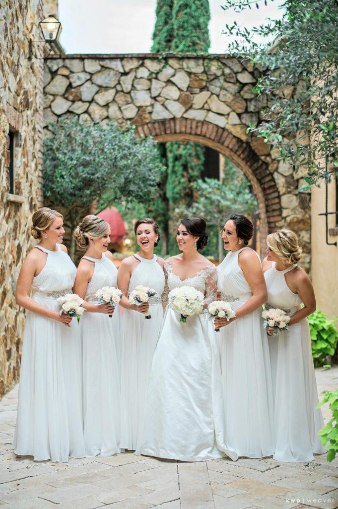 White Wedding, White Bridesmaid Dress