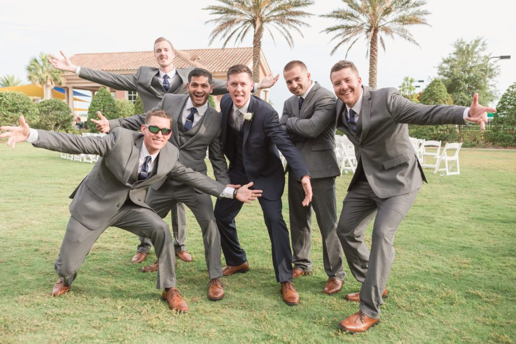 spencer and groomsmen palms