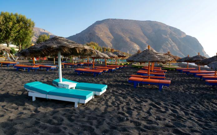 vangies events honeymoons greece black beach