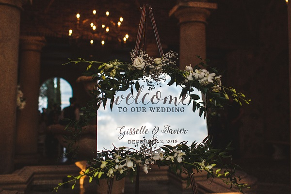 Vangies Events, Bella Collina wedding, orlando wedding planner, Concept Photography, Cuban wedding, welcome sign