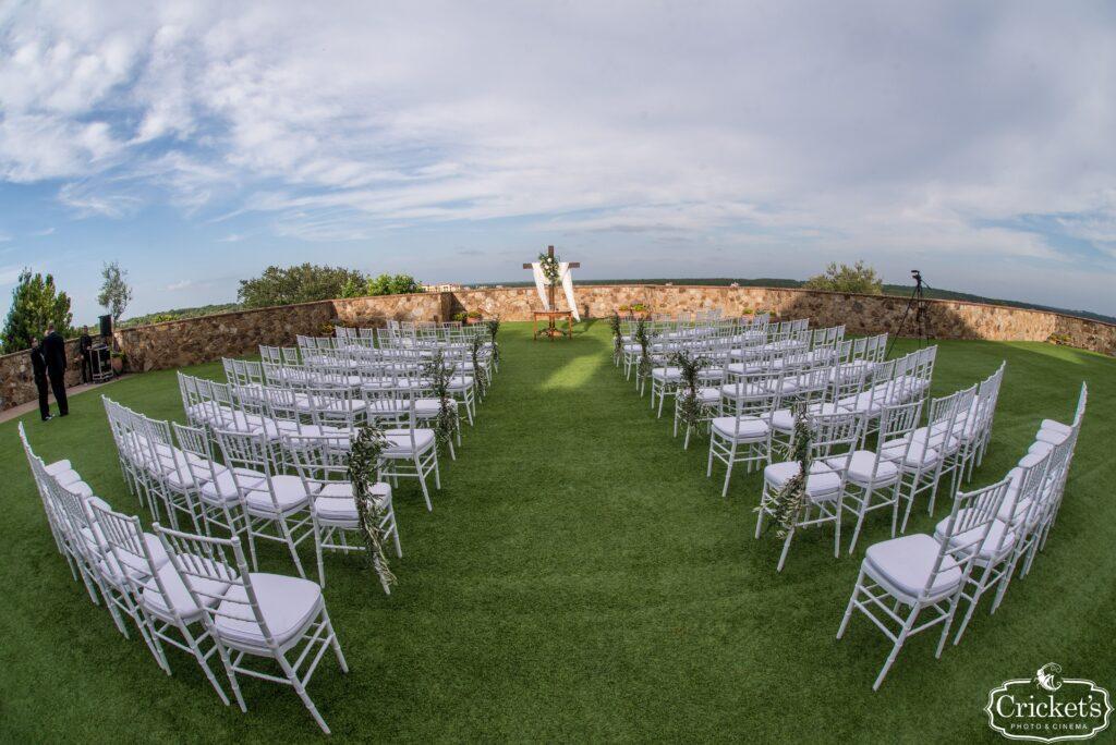 Bella Collina Wedding Ceremony Outdoors