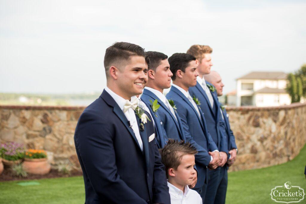 Groom at Bella Collina Wedding Ceremony