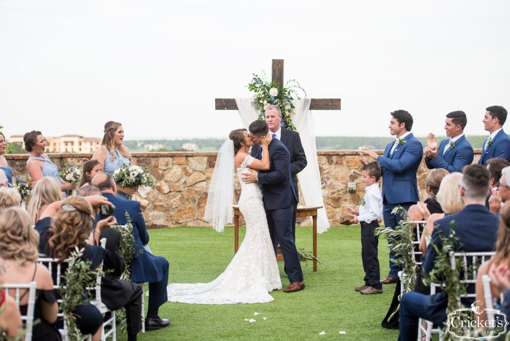 Cody Kisses his Bride
