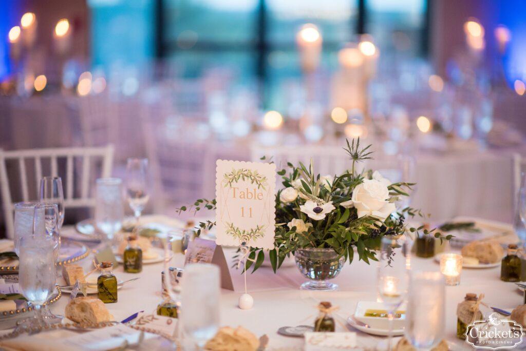 Table Decor at Bella Collina Wedding Reception