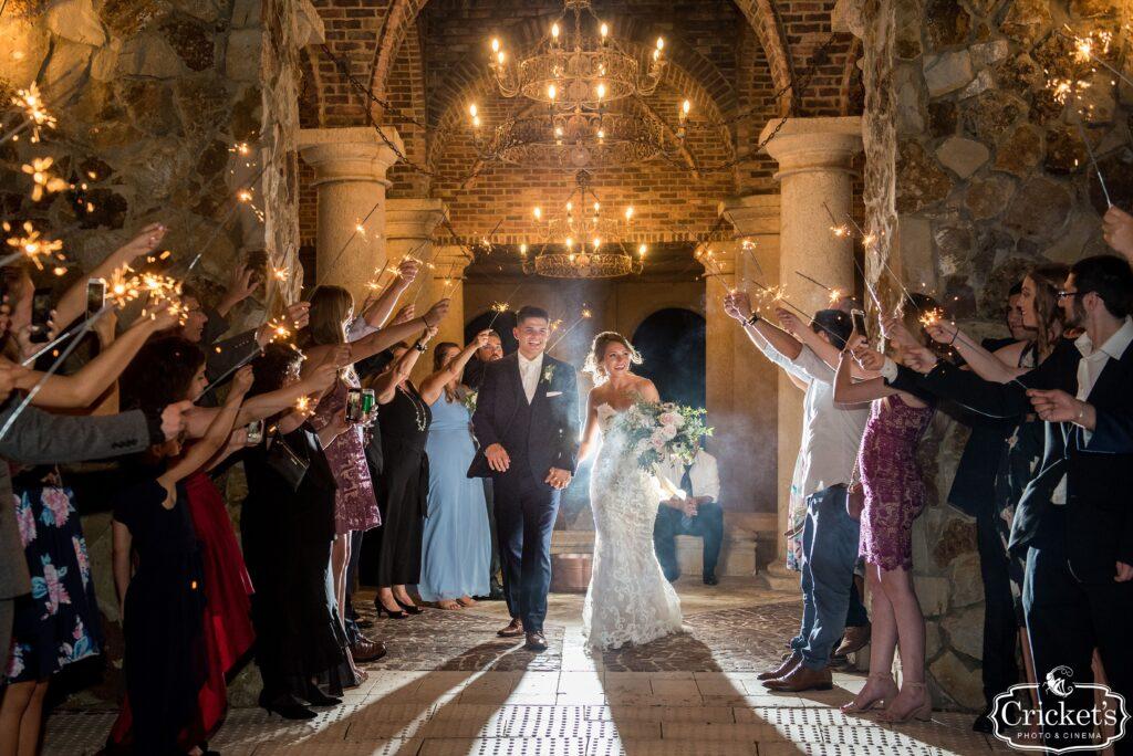 Bella Collina Bride and Groom Sparkler Exit